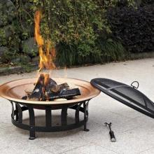 30-inch Rieti Fire Pit with Copper Fire Bowl