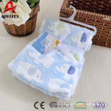 Manta de bebé 100% poliéster lana de coral