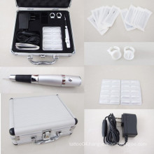 Permanent Makeup Kit Tattoo Eyebrow Lip Pen Needles Tips Carrying case