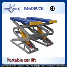 Road Buck manufacturer 3.2T hydraulic Small Scissor car lift Red color of factory supply price for sale