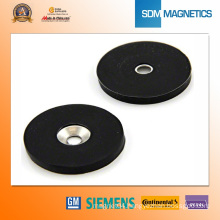 Free Samples Neodymium Strong Manget with Black Rubber Cover