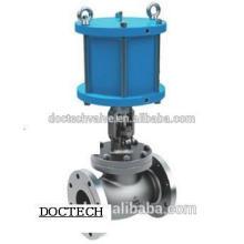 Válvula de globo de acero inoxidable brida globo neumático válvula GB JB, GB/T, API, BS, estruendo