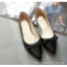 Womens spitzte Zehen-Qualität flache Schuhfabrik Preisschuh