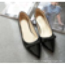 Femmes pointues chaussures plates de haute qualité