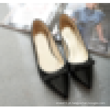 Womens apontou sapato liso da sapata da sapata da alta qualidade do dedo do pé