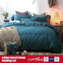 Cotton Lyocell Hemp Blended Bedding Set Factory Direct Sale