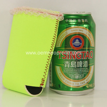Waterproof Bright Green Neoprene Beer Can Coolers