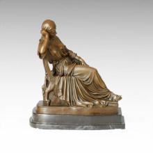 Classical Figure Statue Noblewoman Bronze Sculpture TPE-151