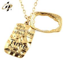 La aleación vendedora caliente del cinc graba la placa de identificación del nombre con el oro plateado