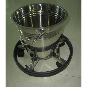 Hospital stainless steel kick bucket