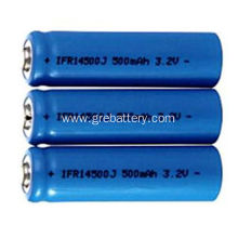 3.2V 500mAh  Rechargeable AA Lithium Batteries