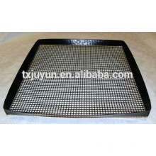 PTFE coated with fiberglass non-stick oven grill mesh with protective edges