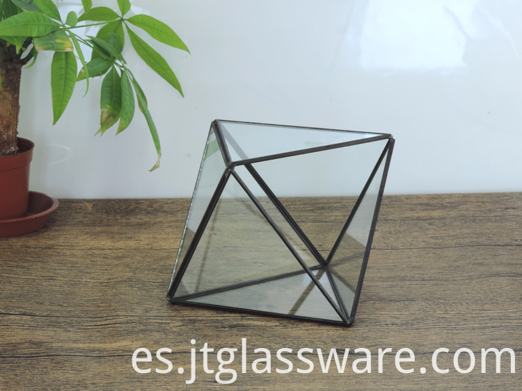 Pentagon Ball Shape Open Glass Geometric Terrarium1