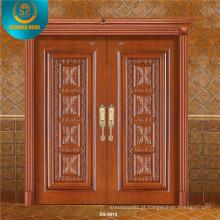 Porta de madeira principal dobro luxuosa para a casa de campo