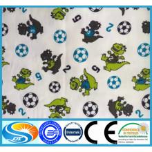 Lovely Flanela de impressão Tecido de flanela de algodão Tecido para babywear, fralda, conjunto de cama