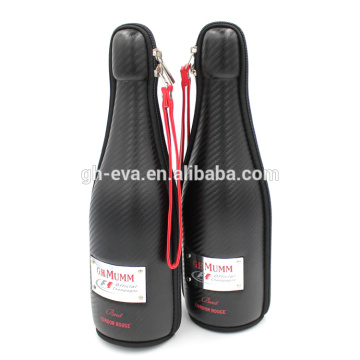 Free sample leather wine carrier round tube wine gift box