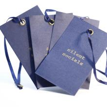 Standard Size Hangtag Custom Offset Printing  Shirt/ T-shirt Hang Tags with Ribbon String