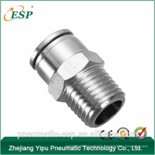 China brass pneumatic male straight fitting