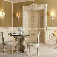 Porta de balanço dupla de madeira de moradias de luxo