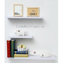 Wholesale wooden MDF board floating wall shower shelves