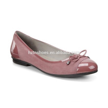 factory wholesale pu like leather women flat shoes 2016