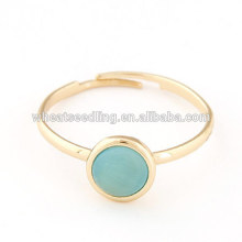 Anéis de moda elegante anel de opala ajustável