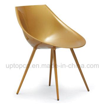 Chaise en ABS Golden Plastic avec pieds en métal pour le restaurant (SP-UC211)
