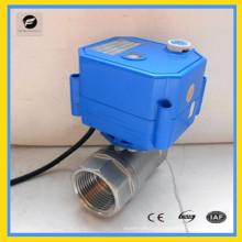 Válvula de bola eléctrica CWX-25s con actuador para equipos de agua hvac
