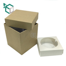Customized high quality paper cardboard square packaging craft bottle gift box