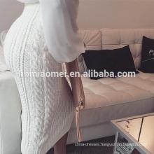 2017 New Model Ladies Twist Knitted Slim-line Women Casual Dress Pencil Skirt