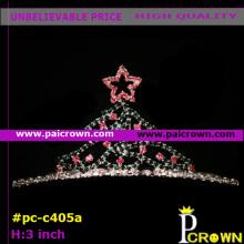 Pink Star christmas tree Pageant Tiara Crown