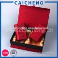 Foldable Round Shape Red Paper Tube Box Paper Tea Box Tea Paper Box