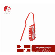Wenzhou BAODSAFE Flexible Lockout Hasp BDS-K8643 Couleur rouge