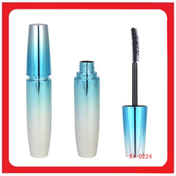 Plastic Cosmetic Blue And Silver Mascara Bottle Packaging