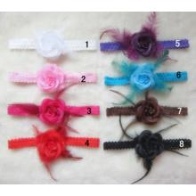 Little Feather Rose Lace Ribbon, Lace Headband, Headdress