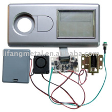Plastic keypad lock for safe with LCD