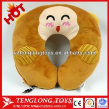 YOCI macaco de pelúcia em forma de U travesseiro com alto-falante