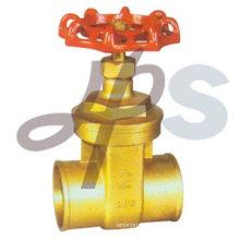brass solder gate valve