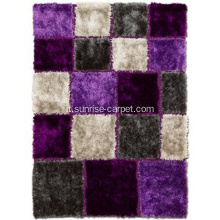 Tappeto tufted Purple & Grey Area tappeto