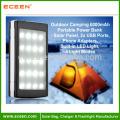 2015 Chargeur solaire le plus récent 30000mah avec LED Camp Light Dual USB Solar Power Bank