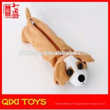 caixa de lápis de pelúcia brinquedo de pelúcia cão