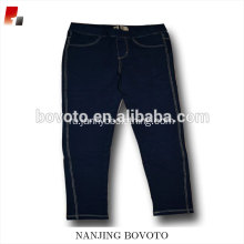 Classical Design Dark Blue Denim Long Shorts