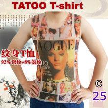 2016 heißes Verkauf sleeveless Tätowierung Nylon T-Shirt