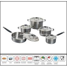 10PCS Cut Edge Stainless Steel Saucepan Set