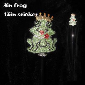 Cetro de corona de cetro de rana de cristal