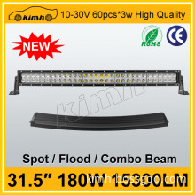 led light bar double row curved 12V 24 volt 180w led spot light