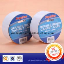Rubans en tissu double face (support de tissu enduit d'un adhésif acrylique)