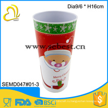 Рождество оптовые партии круглый высокий питьевой сушильный меламина красной рожей