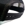 Tampa simples do camionista do bordado da parte traseira do engranzamento do tecido da sarja de Nimes