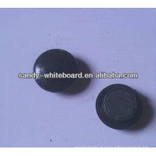 Botão magnético de plástico, ímã revestido de plástico, botão magnético redondo, acessórios de quadro branco, 20mm XD-PJ201-3
